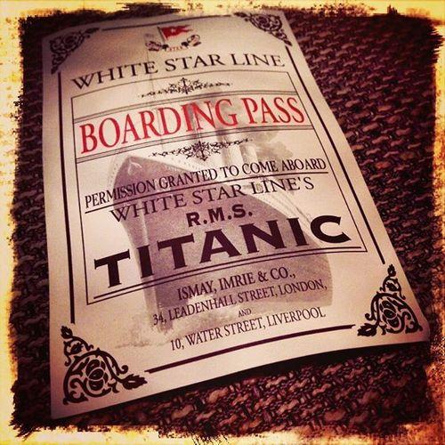 Titanic Titanicexhibition Boardingpass Whitestarline Eisberg Iceberg Lifeboat Shipofdreams Unsinkable Atlanticocean History 1912 Terrible Ship Linz Austria Tabakfabrik