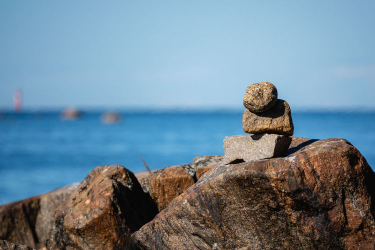 Balance Beauty In Nature Eroded Focus On Foreground Horizon Horizon Over Water Land Nature No People Outdoors Rock Rock - Object Rock Formation Scenics - Nature Sea Sky Solid Stack Tranquil Scene Tranquility Water
