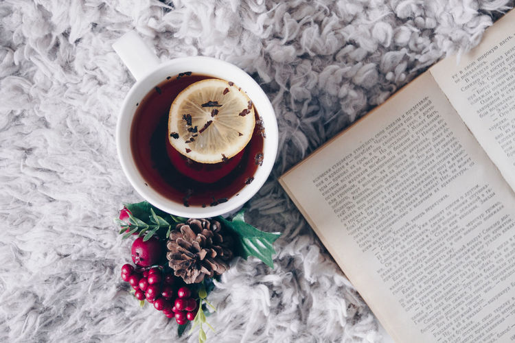 Reading A Book Book Tea Comfort Day Home Limon Red No People Now White
