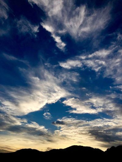 A Beautiful Cloudscape. (180822-181004) Cloud - Sky Sky Beauty In Nature Scenics - Nature Silhouette Tranquility Tranquil Scene Nature Environment Cloudscape Dramatic Sky Sunset Blue Dusk Idyllic Tree Outdoors No People Low Angle View