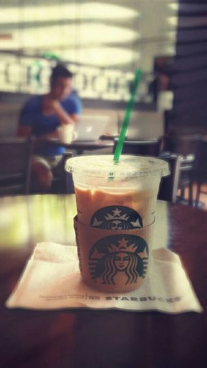 Too hot..I am melting here.. Drinking A Latte Iced Coffee Quality Time Taking Photos