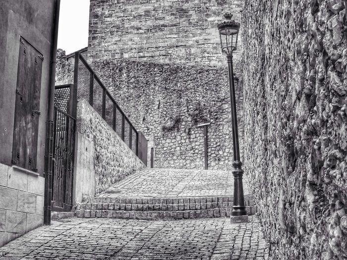 Stairs at Laredo Black & White Streetphoto_bw