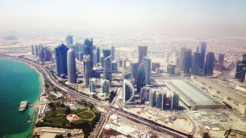 State of Qatar from aircraft windowFrom An Airplane Window The View From My Window AirPlane ✈ Airplaneview The Places I've Been Today Landscape_photography Birdeyeview. Airplane Landing Doha Qatar Landing