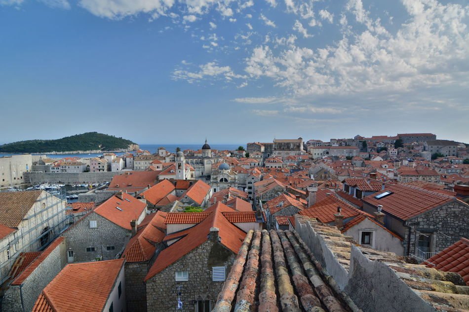 View from the walls. Dubrovnik. Croatia Croatia Dubrovnik Old Town Dubrovnik, Croatia Mediterranean  Old Town UNESCO World Heritage Site Walled City Adriatic Adriatic Coast Architecture Building Exterior Built Structure City Cityscape Dubrovnik Europe No People Outdoors Roof Tourism Destination Town Travel Destinations Unesco