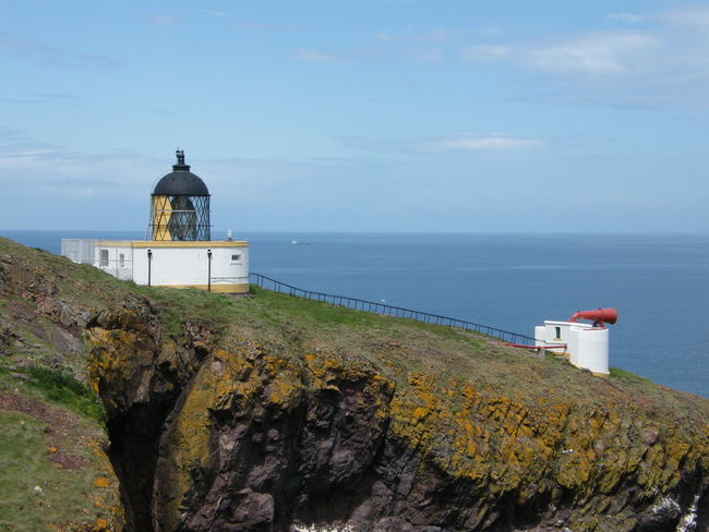 Berwickshire Coastal Path St Abbs Architecture Beauty In Nature Berwickshire Building Exterior Built Structure Cliff Cloud - Sky Day Horizon Over Water Lighthouse Nature No People Outdoors Rock - Object Scenics Sea Sky St Abbs Head St Abbs Lighthouse Water