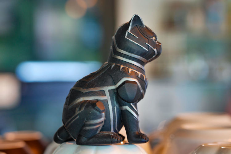Close-up of figurine on table