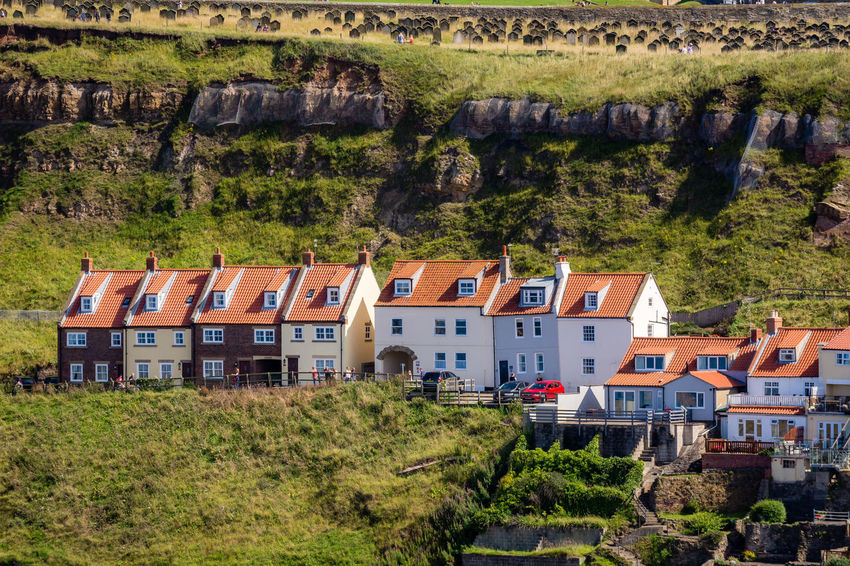 Cliffs Whitby Architecture Building Exterior Built Structure Day House Nature No People Outdoors Roof Sea Front Sky Travel Destinations