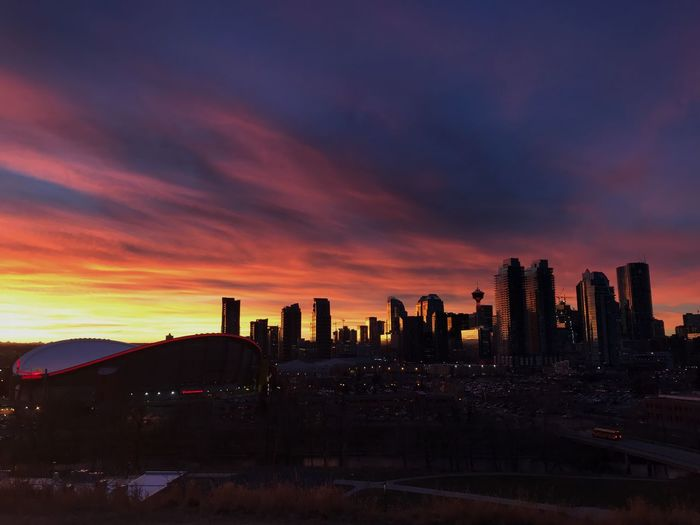 city skies YYC Architecture Sunset Built Structure Sky Building Exterior Skyscraper Cloud - Sky Urban Skyline Beauty In Nature Cityscape City EyeEmNewHere