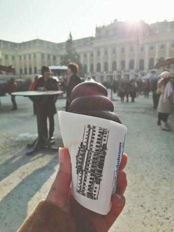 Architecture Building Exterior Human Hand Vienna Vienna, Austria Architecture Travel Destinations Marshmallow Cone