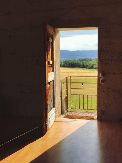 Open Door Entry Nature Architecture Doorway No People