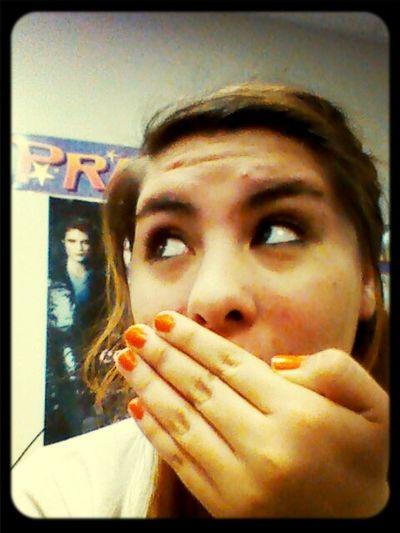 Rianna having fun on my phone;)
