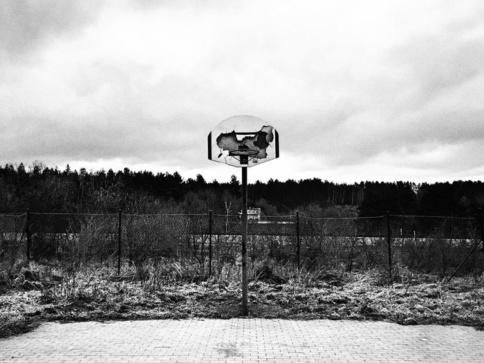 Basketball Hoop Tree No People Sky Day Field Outdoors Nature Cloud - Sky Sport Basketball - Sport Basketball Court