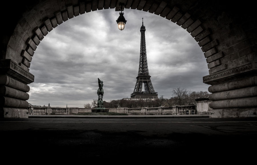 Dramatic Sky Eiffel Eiffel Tower Framing France Paris Pont De Bir-hakeim Sony A6300