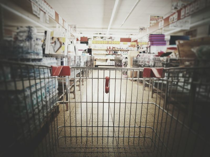 Day Large Group Of Objects No People Shopping Cart Shoppping Goods Store