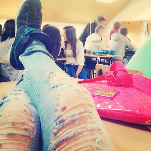 School Bershka Bag Legs