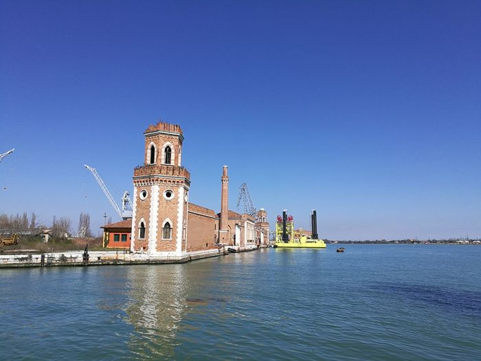 Venice, Italy Arsenale Di Venezia Arsenal Water Clear Sky Sky Built Structure Sea Sunny Nature Building Architecture History Outdoors EyeEmNewHere