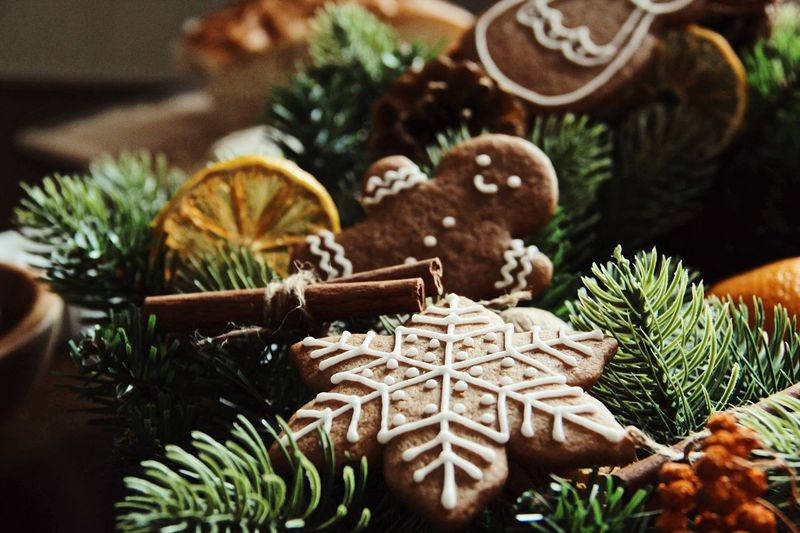 Christmas Christmas Market Christmas Decoration Ginger Cookies Christmas Decoration Celebration Holiday Tree christmas tree Christmas Decoration Holiday - Event Christmas Ornament Nature Green Color Focus On Foreground Art And Craft Indoors  Plant