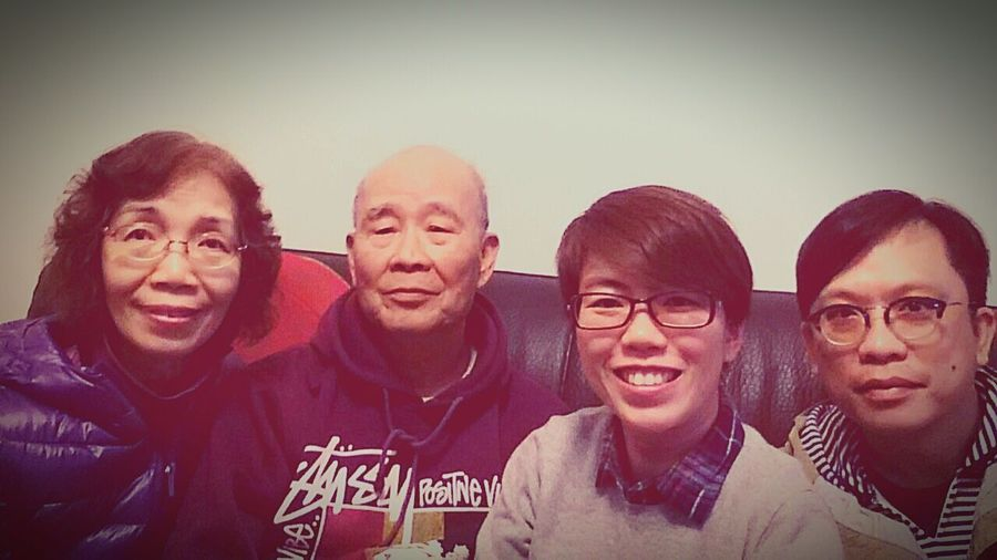 Me and my family. Family❤ Mum Dad Husband Happiness Chinese New Year 2015 Year Of Goat Selfies Xperiaz2
