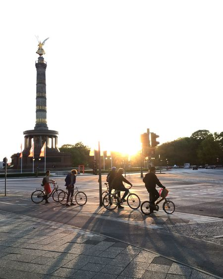 Berlin Architecture Bicycle City Freiheitberlin Group Of People Lens Flare Mode Of Transportation Outdoors Real People Riding Sunlight Tourism Transportation Travel Travel Destinations #FREIHEITBERLIN