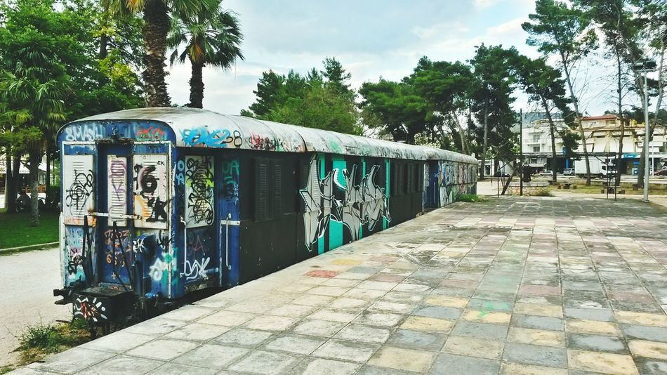 Graffiti Starting A Trip Photos Around You On The Road Greece Holiday Locomotive Nafplion Nafplio