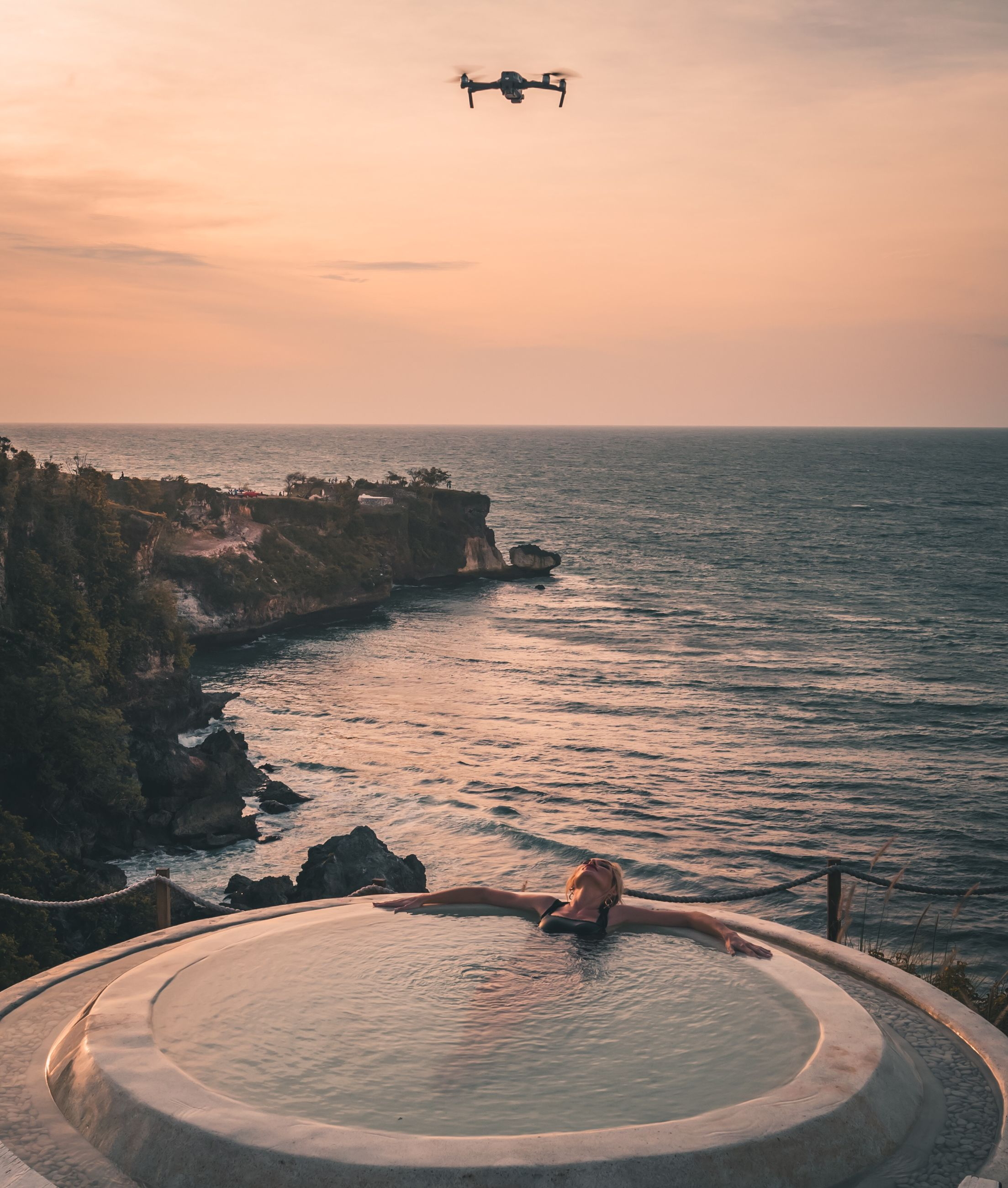sky, sea, water, horizon over water, sunset, scenics - nature, horizon, beauty in nature, nature, transportation, flying, tranquility, tranquil scene, mode of transportation, no people, air vehicle, orange color, airplane, cloud - sky, outdoors