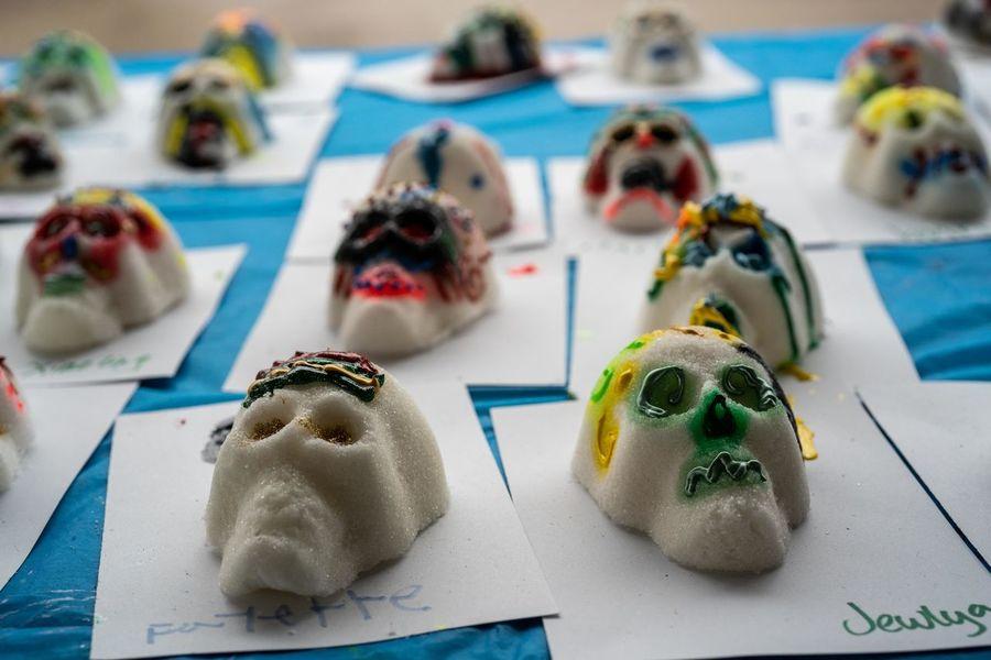 Diademuertos Skulls Sugar Decorations Decorating The Christmas Tree Culture