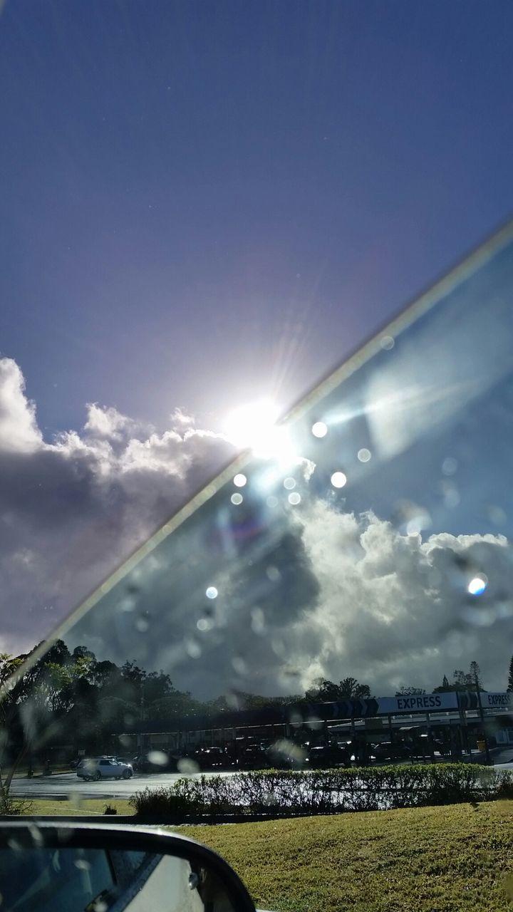 Sunbeam Viewed From Glass Window Of Car