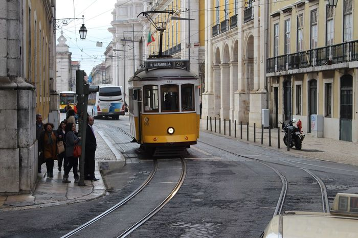 Lisbon alive Lisbon Streetphotography Street Capital Cities  Portugal Canon Canonphotography Minimalism Minimal Mode Of Transport Building Exterior City Full Length MyPhotography Goodvibes Photooftheday Exploring Behappy