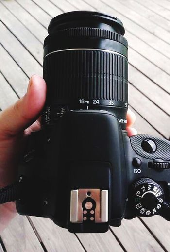 Close-up of cropped camera