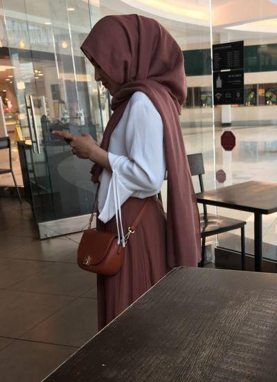 Woman using