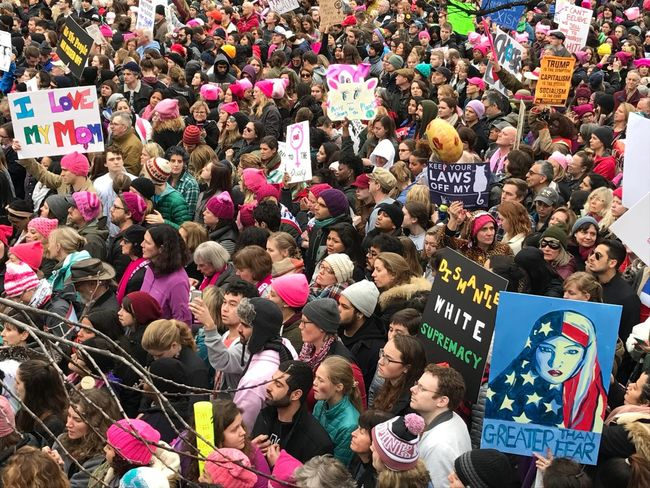 Crowd Large Group Of People Music Group Of People People Outdoors Day Adult Adults Only Participant Women's March On Washington I Love My Mom Politics Pussyhat Resistance  Posters Communication Resistance