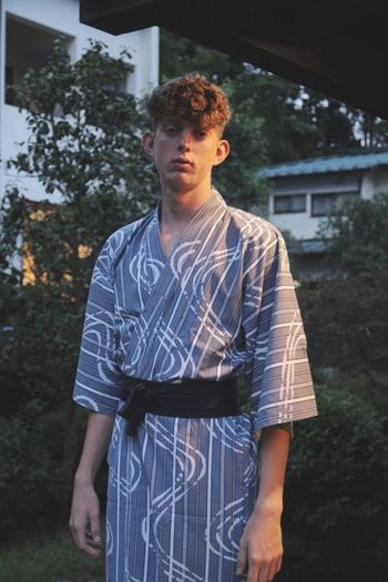 Ki-mo-no Clothing Kimono Japanese  Japanese Traditional Young Adult One Person Front View Young Men Standing Leisure Activity Real People Casual Clothing Building Exterior Three Quarter Length Waist Up Built Structure Architecture Portrait Lifestyles Contemplation Day Fashion Handsome Teenage Boys The Fashion Photographer - 2018 EyeEm Awards