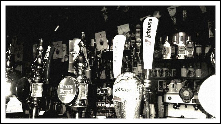 Beer Bar Blackandwhite Having A Beer