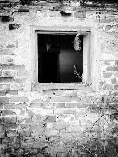 Blackandwhite Bad Condition Barns Ruins Ruined Abandoned Buildings Abandoned Places Destruction Destroyed Buildings Deterioration Damaged Window Window Frame