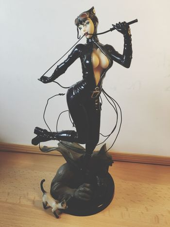 My Catwoman Bishoujo. Paid loads for it 😑 Bishoujo Catwoman Selinakyle Kotobukiya Batman BatmanTheAnimatedSeries Geek Nerd Statue