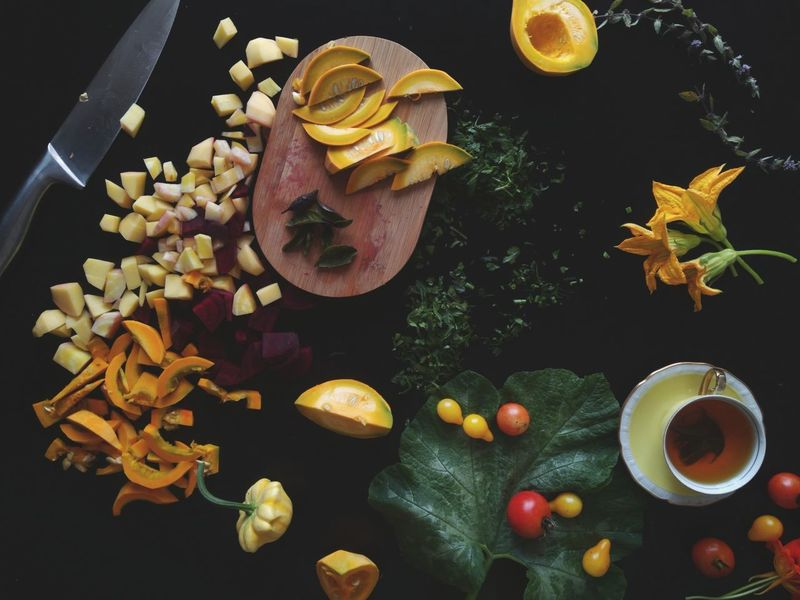 Ingredient Fruit Black Background Food And Drink Variation Healthy Lifestyle Yellow Cutting Knife Cutting Board Beetroots Herbs Fresh From My Garden Flatlay Organic Freshness Vegetables Pumpkins Kitchen Art Cooking Fresh Food Healthy Eating Food Directly Above Table Fall Vegetables The Week On EyeEm