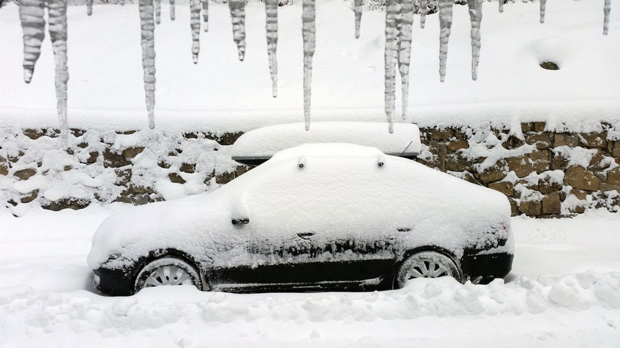 Snow Winter Cold Temperature Transportation White Color Mode Of Transportation Nature No People Car Motor Vehicle Day Covering Land Vehicle Land Frozen Field Tree Architecture Environment Snowing Extreme Weather Blizzard Powder Snow