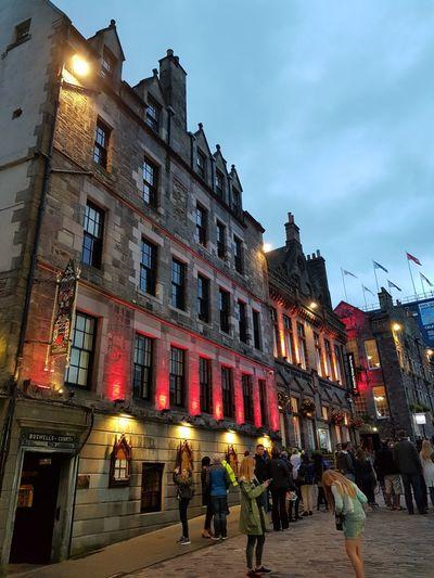 Edinburgh , Scotland Architecture Building Exterior City Street Politics And Government Illuminated City Built Structure