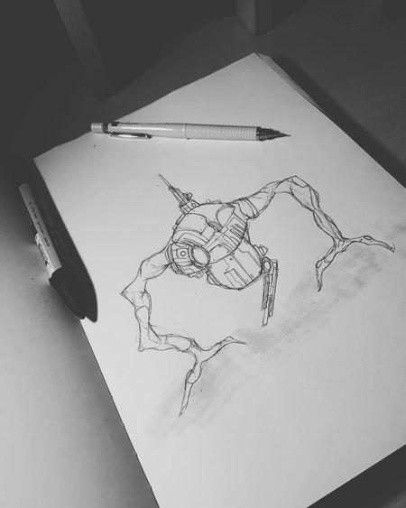 Sketchbook Art SkecthArt Drawing Illustration #Nature  #blackandwhite #JustMe No People Paper Close-up Day