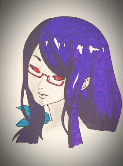 Art Anime Tokyo Ghoul Girl Riza XXxTOMASzZz Painting Women