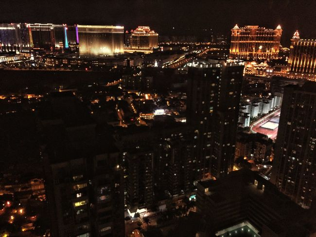 Concrete Jungle Building Exterior Architecture City Illuminated Night Built Structure Cityscape Outdoors Travel Destinations Sky No People ASIA Macau Taipa  Photography City Life High Angle View