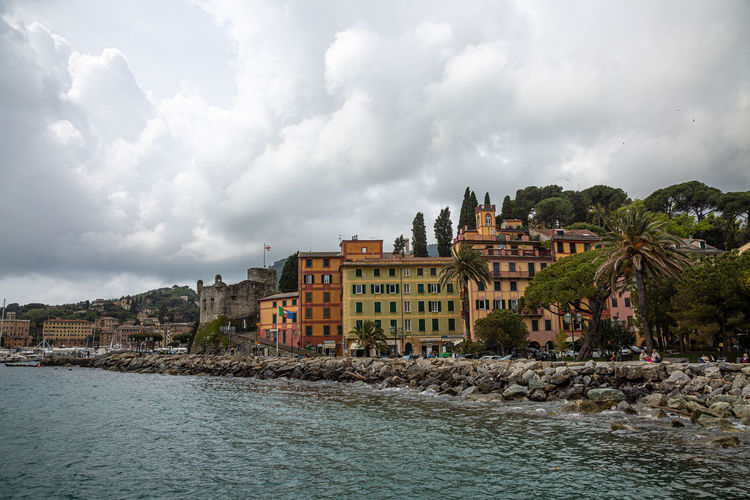 Italy Landscape Architecture Buildings City Clouds Dramatic Harbor Port Sea Seashore Shore Sky Tourism Travel Water Built Structure Cloud - Sky Building Exterior Building Waterfront Nature Tree Day No People Residential District Beauty In Nature Plant Scenics - Nature Outdoors