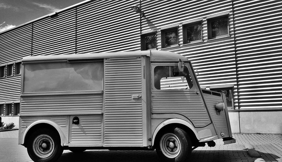 Classic Car Citroen Blackandwhite Monochrome Bw_collection Classic Van Lines