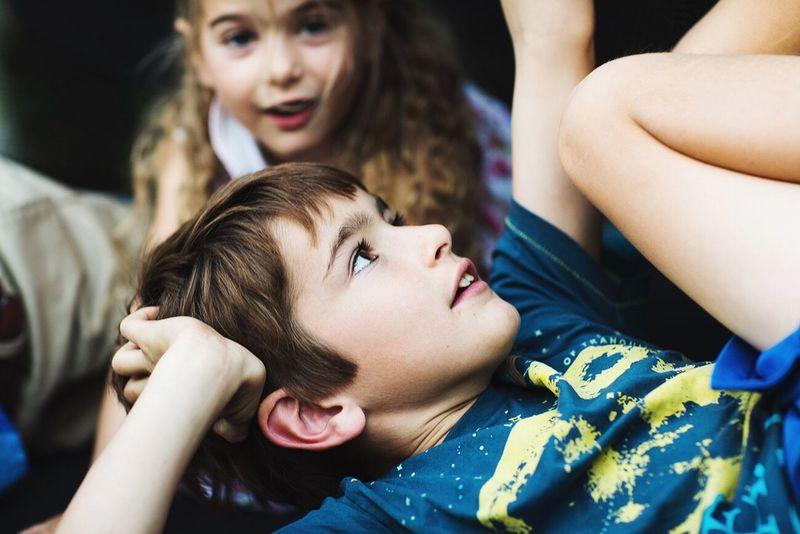 Color Portrait Portrait Autumn Lifestyle Real People Moments Boys Childhood Friendship