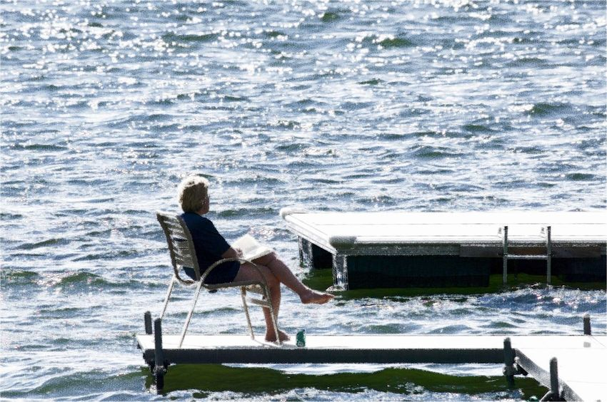 Choppy Waters Pensive Mood Sittin On The Dock Artistic Expression