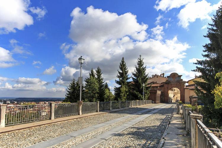 Empty Road Against Sky At Biella