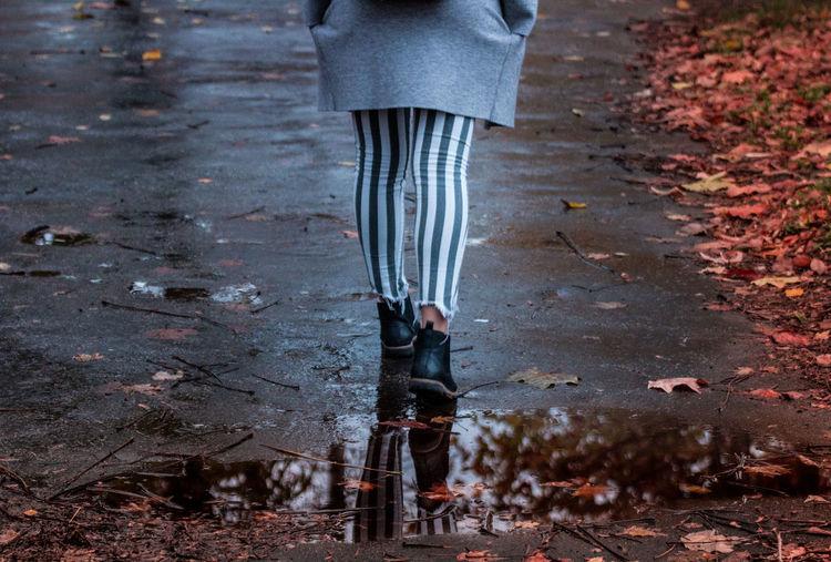 girl walking at