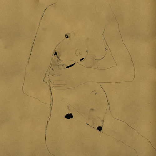 Drawing Portrait Illustration Sketch Females Woman Nude_model Minimalism Creativity