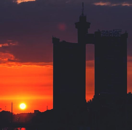 Good Night Sun  Silhouette Sunset City Travel Cityscape Belgrade Beautiful Novi Beograd Novibeograd