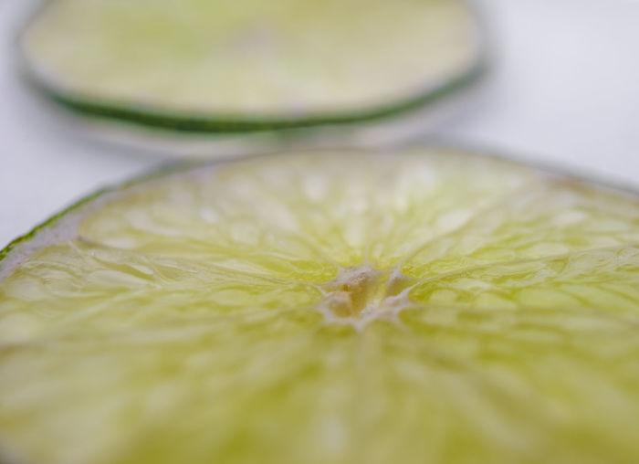 Full frame shot of lemon slice